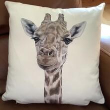 Gerald the Giraffe Luxury Faux Suede Cushion