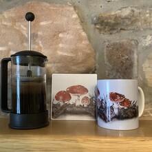 Magical Fly Agaric Toadstools Ceramic Mug and Coaster Set