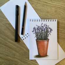 Pot of Bluebells Note Pad